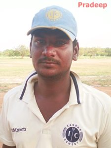 M. Pradeep scored 168