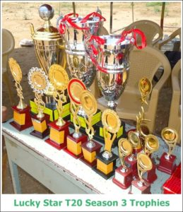 Lucky Star T20 Season 3 Trophies