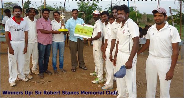 Winners: Sir Robert Stanes Memorial Club